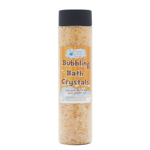 Cram your face in my Sweet Pumpkin Pie Bubbling Bath Crystals10 oz. - Fortune Cookie Soap