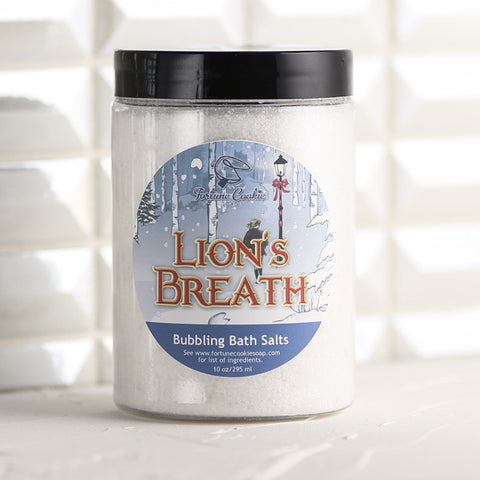 LION'S BREATH Bubbling Bath Salts - Fortune Cookie Soap - 1