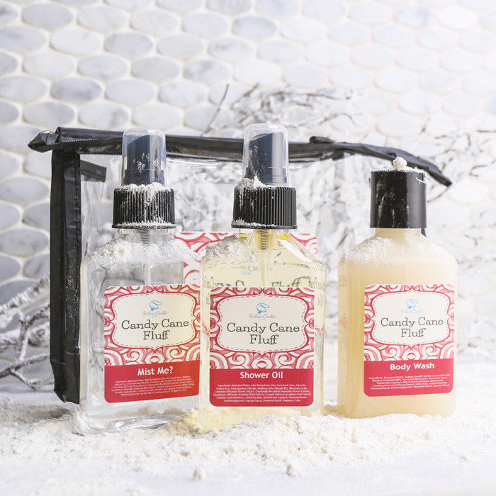 Candy Cane Fluff Gift Set Fortune Cookie Soap