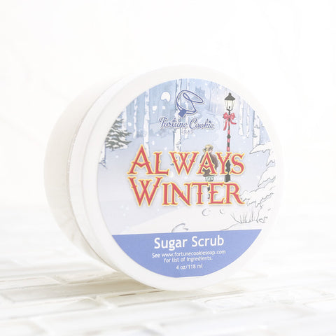 ALWAYS WINTER Sugar Scrub - Fortune Cookie Soap - 1