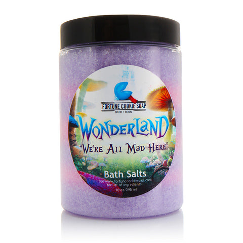 We're All Mad Here Bath Salts - Fortune Cookie Soap