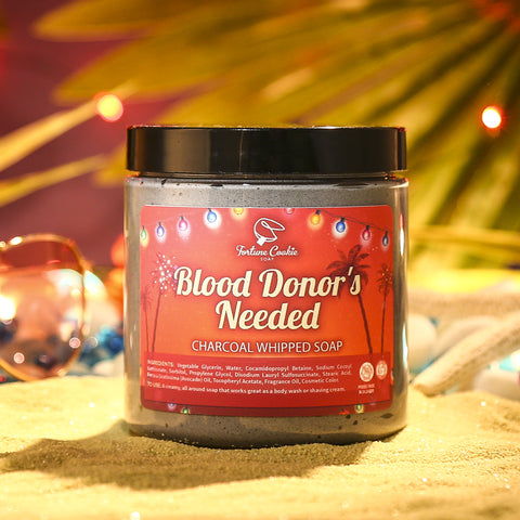 BLOOD DONOR'S NEEDED... SEE THE COUNT Charcoal Whipped Soap