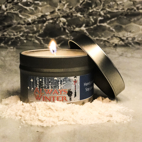 ALWAYS WINTER Hand Poured Soy Candle - Fortune Cookie Soap