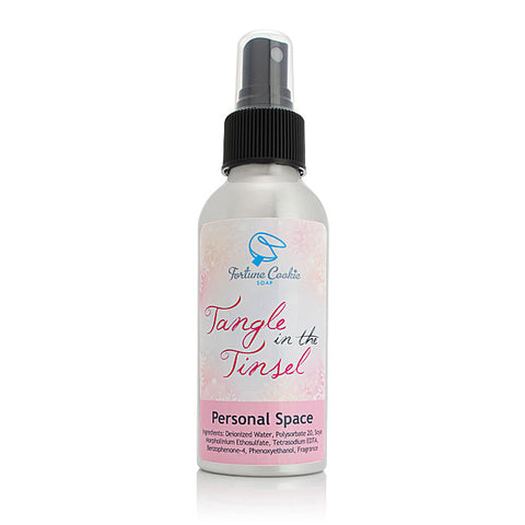TANGLE IN THE TINSEL Personal Space Air Freshener - Fortune Cookie Soap