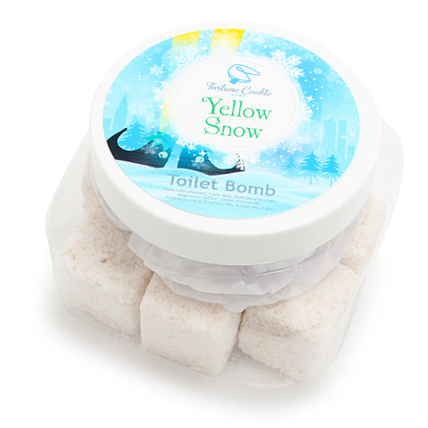 YELLOW SNOW Toilet Bombs - Fortune Cookie Soap