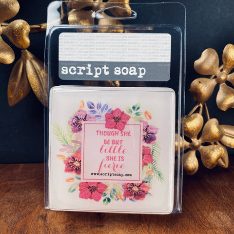 THOUGH SHE BE BUT LITTLE... Script Soap