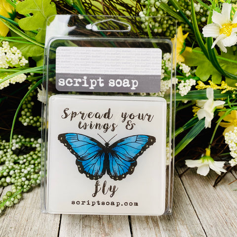 SPREAD YOUR WINGS & FLY Script Soap