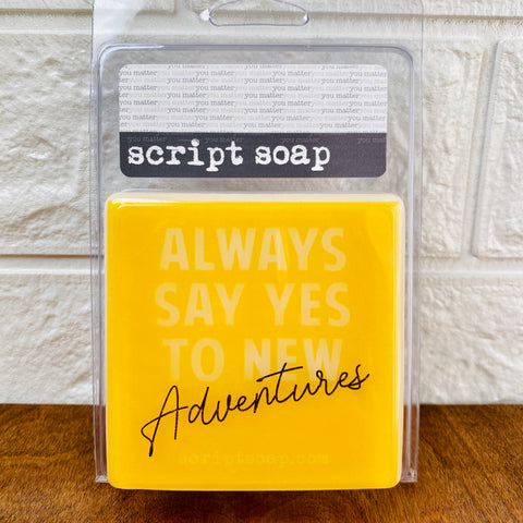ALWAYS SAY YES TO NEW ADVENTURES! Script Soap
