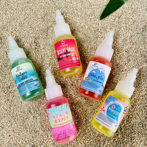 PACK YOUR BAGS Hand Sanitizer Sampler 5 pack