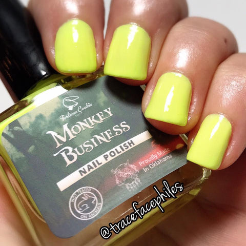 MONKEY BUSINESS Nail Polish (GLOWS IN THE DARK)