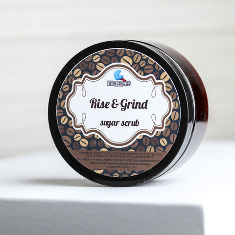 RISE & GRIND Coffee Scrub - Fortune Cookie Soap - 1