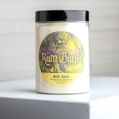 RUM BUTTER Milk Bath - Fortune Cookie Soap