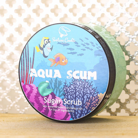 AQUA SCUM Sugar Scrub - Fortune Cookie Soap - 1