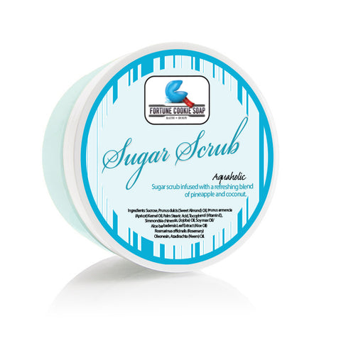 Aquaholic Sugar Scrub - Fortune Cookie Soap