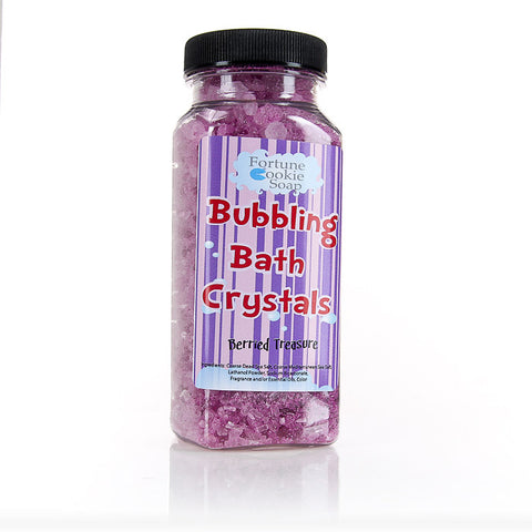 Berried Treasure Bubbling Bath Crystals11 oz. - Fortune Cookie Soap