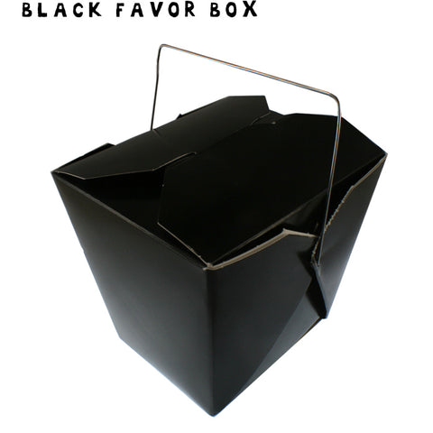 BLACK Mini Take-out Box - Fortune Cookie Soap