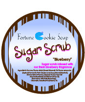 Fresh Blueberry Sugar Scrub - Fortune Cookie Soap