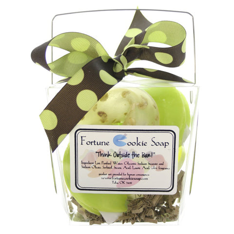 Green Polka Bath Gift Set - Fortune Cookie Soap - 1