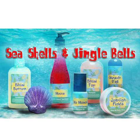 ENTIRE Sea Shells & Jingle Bells COLLECTION - Fortune Cookie Soap