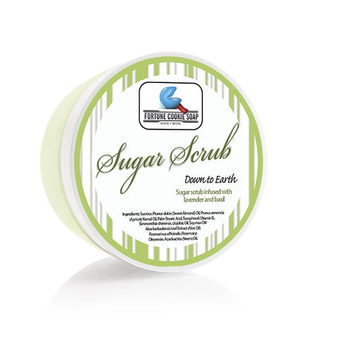 Down to Earth Sugar Scrub 5oz. - Fortune Cookie Soap