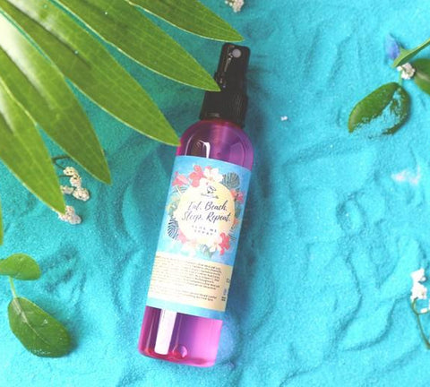 EAT. BEACH. SLEEP. REPEAT. Aloe Me Spray