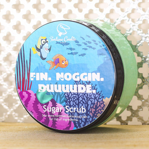 FIN. NOGGIN. DUUUDE. Sugar Scrub - Fortune Cookie Soap - 1