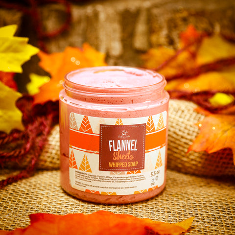 FLANNEL SHEETS Whipped Soap