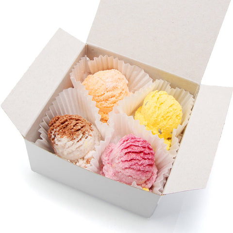 Limited Edition Gelato Sampler  Bath Bomb (set of 4) - Fortune Cookie Soap
