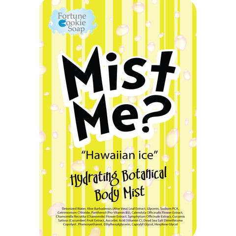 Hawaiian Ice Hydrating Botanical Mist - Fortune Cookie Soap