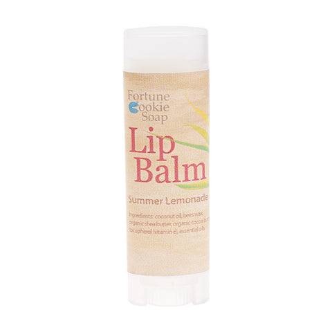 Sparkling Lemonade Lip Balm .15 oz - Fortune Cookie Soap