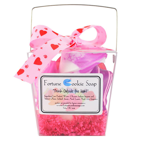 The Love Box Bath Gift Set - Fortune Cookie Soap