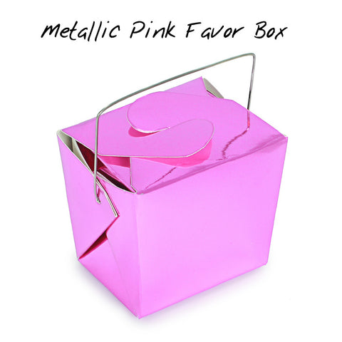 METALLIC PINK Mini Take-out Box - Fortune Cookie Soap