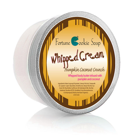 Pumpkin Coconut Crunch Body Butter 5oz. - Fortune Cookie Soap