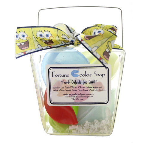 Square Pants Bath Gift Set - Fortune Cookie Soap