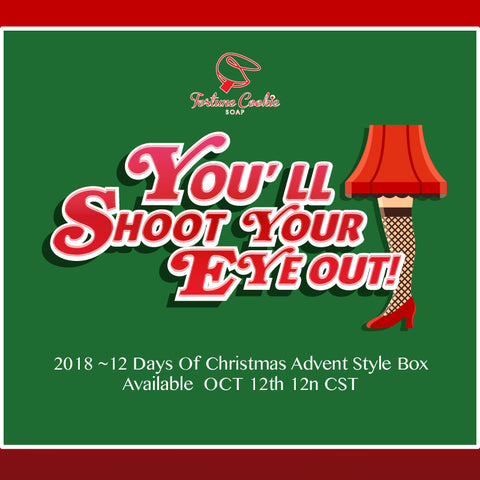 2018 ~ 12 DAYS of CHRISTMAS ADVENT STYLE BOX ~ INTERNATIONAL