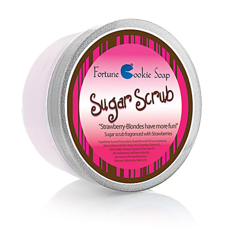 Strawberry-Blondes have more fun! Sugar Scrub - Fortune Cookie Soap