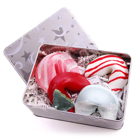 Christmas Gift Set (4 Cookies in Tin) - Fortune Cookie Soap