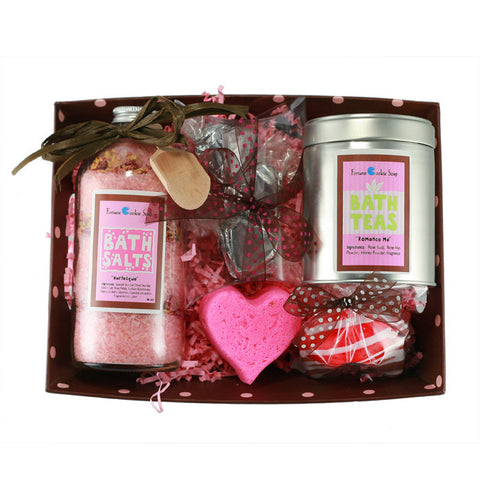 Be Mine Valentine Gift Basket - Fortune Cookie Soap - 1