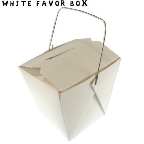 WHITE Mini Take-out Box - Fortune Cookie Soap
