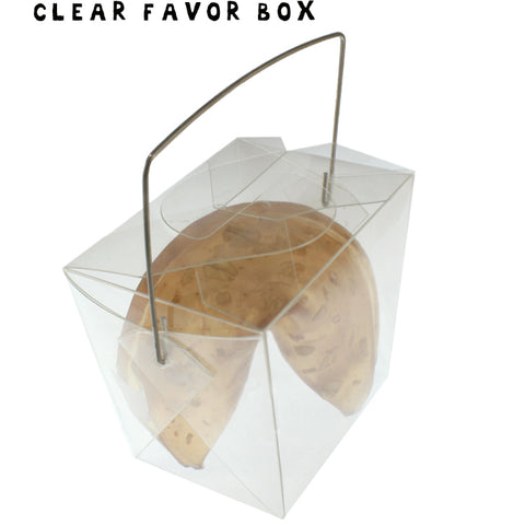 CLEAR Mini Take-out Box - Fortune Cookie Soap