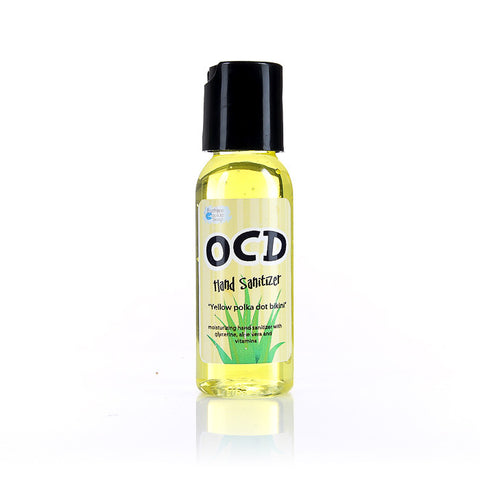 Yellow Polka Dot Bikini OCD Hand Sanitizer - Fortune Cookie Soap