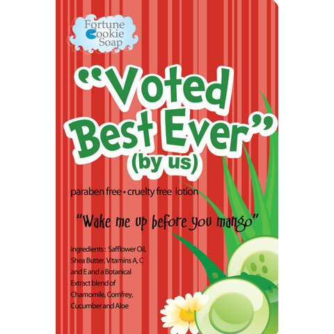 Wake Me Up Before You Mango Voted best! (by us) Lotion - Fortune Cookie Soap