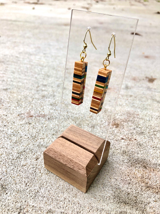 Recycled Skateboards Earrings
