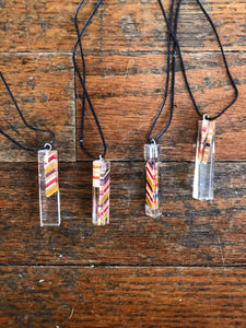 Resin and Recycled Skateboards Pendant