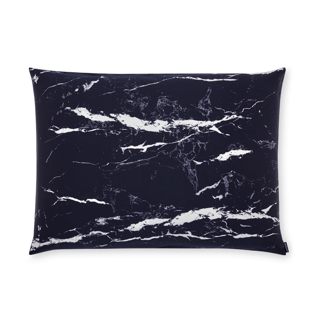 Black Marble Silk Pillowcase