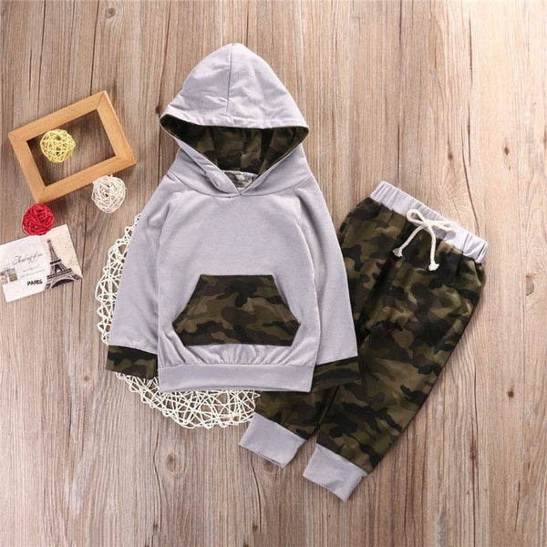 Newborn Infant Baby Boys Girls Hoodie Tops Pants Legging Outfits Set Clothes - Casual Freaks