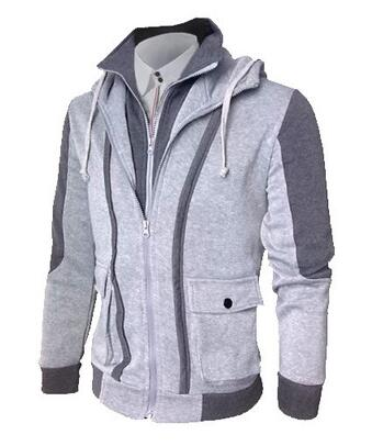 Business Casual Gent's Slim Fit Hoodies - Double Zipper Mode *** TOP SALES*** - Casual Freaks