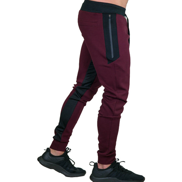 2018 New Big Zipper Sweatpants Men Solid Casual GYMS Fitness Joggers Pants - Casual Freaks