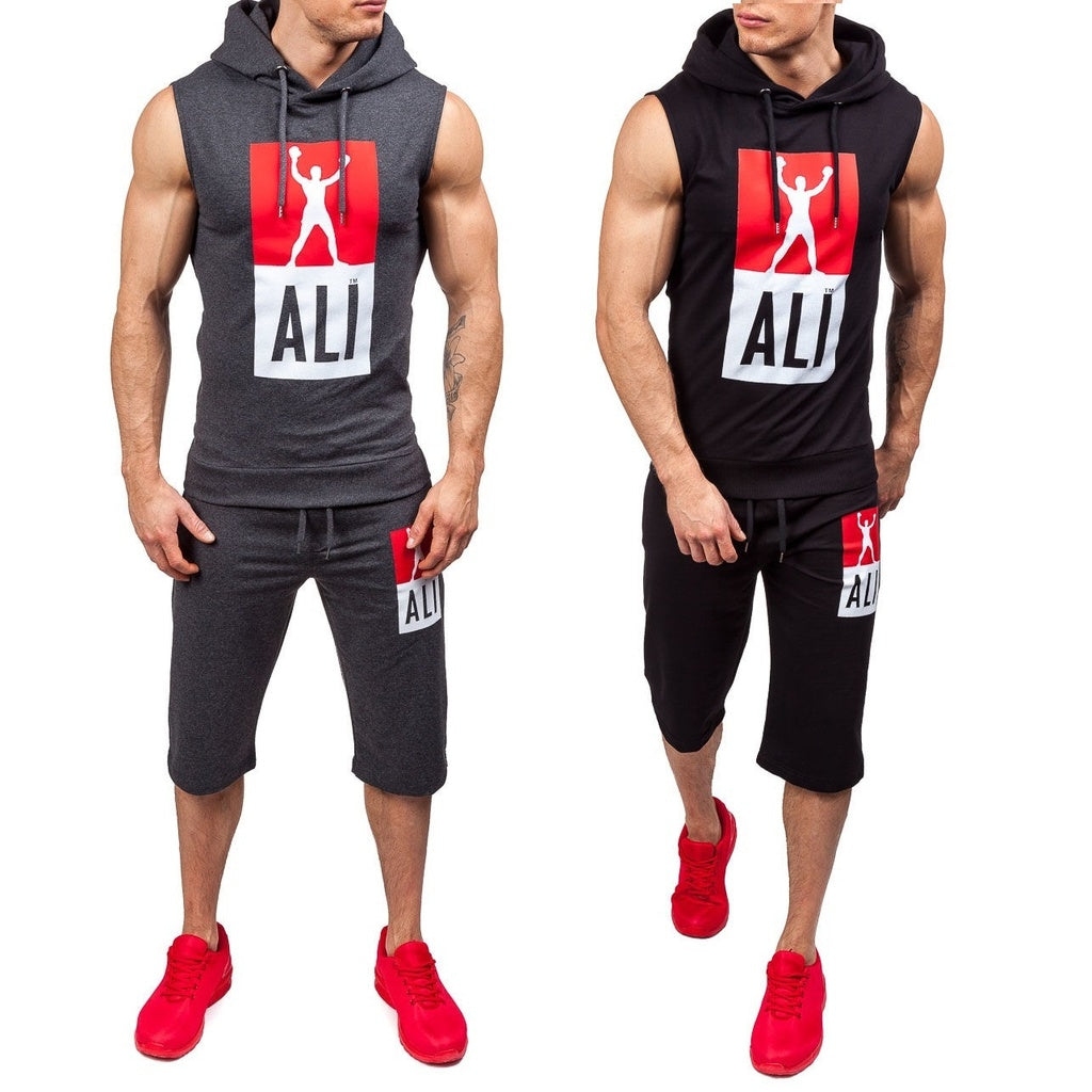 Casual Smart Adjustable String Hoodies and Sleeveless Set - Casual Freaks