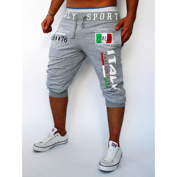 Premium Italian Cotton Digital Printing Casual 3/4 Sporty Shorts - Casual Freaks
